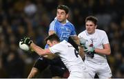 27 January 2018; Eoin Doyle of Kildare, supported by team-mate David Hyland, in action against Bernard Brogan of Dublin during the Allianz Football League Division 1 Round 1 match between Dublin and Kildare at Croke Park in Dublin. Photo by Piaras Ó Mídheach/Sportsfile