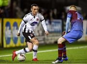 27 January 2018; Dylan Connolly of Dundalk in action against Mark Doyle of Drogheda during the Malone Cup match between Dundalk and Drogheda United at Oriel Park in Louth. Photo by Sam Barnes/Sportsfile