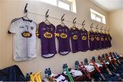 28 January 2018; The Wexford dressing room before the Allianz Hurling League Division 1A Round 1 match between Waterford and Wexford at Walsh Park in Waterford. Photo by Matt Browne/Sportsfile
