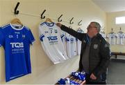 28 January 2018; Waterford kitman Roger Casey hangs the new Waterford jersey before the match against Wexford at the Allianz Hurling League Division 1A Round 1 match between Waterford and Wexford at Walsh Park in Waterford. Photo by Matt Browne/Sportsfile