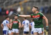 28 January 2018; Evan Regan of Mayo reacts after a decision isn't given to his side during the Allianz Football League Division 1 Round 1 match between Monaghan and Mayo at St Tiernach's Park in Clones, County Monaghan. Photo by Seb Daly/Sportsfile
