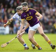 28 January 2018; Jack O'Connor of Wexford in action against Philip Mahony of Waterford during the Allianz Hurling League Division 1A Round 1 match between Waterford and Wexford at Walsh Park in Waterford. Photo by Matt Browne/Sportsfile