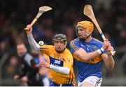 28 January 2018; Padraic Maher of Tipperary in action against David Reidy of Clare during the Allianz Hurling League Division 1A Round 1 match between Clare and Tipperary at Cusack Park in Ennis, County Clare.  Photo by Stephen McCarthy/Sportsfile