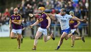 28 January 2018; Simon Donohoe of Wexford in action against Jake Dillon of Waterford during the Allianz Hurling League Division 1A Round 1 match between Waterford and Wexford at Walsh Park in Waterford. Photo by Matt Browne/Sportsfile