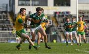 28 January 2018; David Clifford of Kerry in action against Caolan Ward of Donegal during the Allianz Football League Division 1 Round 1 match between Kerry and Donegal at Fitzgerald Stadium in Killarney, Co. Kerry. Photo by Diarmuid Greene/Sportsfile