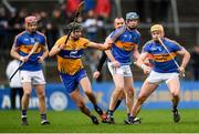 28 January 2018; Padraic Maher of Tipperary in action against Cathal Malone of Clare during the Allianz Hurling League Division 1A Round 1 match between Clare and Tipperary at Cusack Park in Ennis, County Clare.  Photo by Stephen McCarthy/Sportsfile