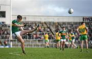 28 January 2018; David Clifford of Kerry kicks a free during the Allianz Football League Division 1 Round 1 match between Kerry and Donegal at Fitzgerald Stadium in Killarney, Co. Kerry. Photo by Diarmuid Greene/Sportsfile