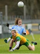 28 January 2018; Aoife Kane of Dublin in action against Karen Guthrie of Donegal during the Lidl Ladies Football National League Division 1 Round 1 match between Donegal and Dublin at Letterkenny in Donegal. Photo by Oliver McVeigh/Sportsfile