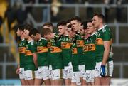28 January 2018; David Clifford with his Kerry team-mates during the playing of the national anthem prior to the Allianz Football League Division 1 Round 1 match between Kerry and Donegal at Fitzgerald Stadium in Killarney, Co. Kerry. Photo by Diarmuid Greene/Sportsfile