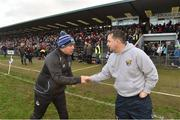 28 January 2018; Waterford manager Derek McGrath congratulates Wexford manager Davy Fitzgerald after the Allianz Hurling League Division 1A Round 1 match between Waterford and Wexford at Walsh Park in Waterford.  Photo by Matt Browne/Sportsfile