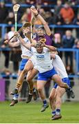 28 January 2018; Jack O'Connor of Wexford in action against Tadhg de Burca, Jake Dillon and Philip Mahony of Waterford during the Allianz Hurling League Division 1A Round 1 match between Waterford and Wexford at Walsh Park in Waterford.  Photo by Matt Browne/Sportsfile