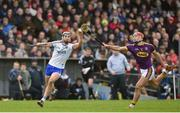 28 January 2018; Darragh Fives of Waterford in action against Lee Chin of Wexford during the Allianz Hurling League Division 1A Round 1 match between Waterford and Wexford at Walsh Park in Waterford.  Photo by Matt Browne/Sportsfile