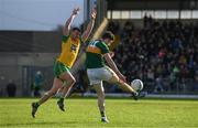 28 January 2018; Paul Geaney of Kerry in action against Leo McLoone of Donegal during the Allianz Football League Division 1 Round 1 match between Kerry and Donegal at Fitzgerald Stadium in Killarney, Co. Kerry. Photo by Diarmuid Greene/Sportsfile