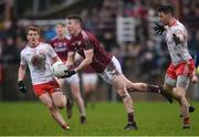 28 January 2018; Johnny Heaney of Galway in action against Tyrone's Peter Harte, left, and Matthew Donnelly during the Allianz Football League Division 1 Round 1 match between Galway and Tyrone at St Jarlath's Park in Tuam, County Galway.  Photo by Piaras Ó Mídheach/Sportsfile