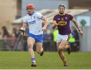 28 January 2018; Tadhg de Burca of Waterford in action against Jack O'Connor of Wexford during the Allianz Hurling League Division 1A Round 1 match between Waterford and Wexford at Walsh Park in Waterford.  Photo by Matt Browne/Sportsfile