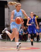 28 January 2018; Sarah Woods of DCU Mercy during the Hula Hoops Women's National Cup Final match between DCU Mercy and Ambassador UCC Glanmire at the National Basketball Arena in Tallaght, Dublin. Photo by Brendan Moran/Sportsfile