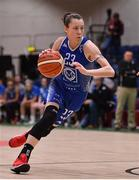 28 January 2018; Adily Martucci of Ambassador UCC Glanmire during the Hula Hoops Women's National Cup Final match between DCU Mercy and Ambassador UCC Glanmire at the National Basketball Arena in Tallaght, Dublin. Photo by Brendan Moran/Sportsfile