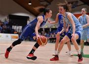 28 January 2018; Adily Martucci of Ambassador UCC Glanmire in action against Rachel Huijsdens of DCU Mercy during the Hula Hoops Women's National Cup Final match between DCU Mercy and Ambassador UCC Glanmire at the National Basketball Arena in Tallaght, Dublin. Photo by Brendan Moran/Sportsfile
