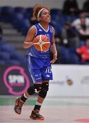 28 January 2018; Ashley Prim of Ambassador UCC Glanmire during the Hula Hoops Women's National Cup Final match between DCU Mercy and Ambassador UCC Glanmire at the National Basketball Arena in Tallaght, Dublin. Photo by Brendan Moran/Sportsfile