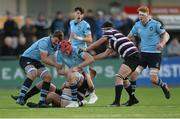 29 January 2018; Ryan Baird of St Michael's College, supported by team-mate Jody Booth, is tackled by Jack Walsh of Terenure College during the Bank of Ireland Leinster Schools Senior Cup Round 1 match between Terenure College and St Michael's College at Donnybrook Stadium, in Dublin.  Photo by Piaras Ó Mídheach/Sportsfile