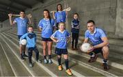 30 January 2018; Dublin players, from left, Danny Sutcliffe, Leah Caffrey, Eimear McCarthy and Dean Rock with young Dubs, from left, Christian Kelly, age 7, Kyah O'Reilly, age 8 and Dara Ryan, age 7, in Parnell Park to kick off the 2018 Dublin GAA Season with team sponsor's AIG Insurance. To celebrate the new year, AIG revealed details of their latest car insurance deal, offering 20% off car insurance to new customers. For more info call 1890 50 27 27 or log on to www.aig.ie/dubs. Parnell Park, Dublin. Photo by David Fitzgerald/Sportsfile