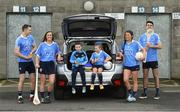 30 January 2018; Dublin players, from left, Dean Rock, Eimear McCarthy, Leah Caffrey and Danny Sutcliffe with young Dubs, from left, Christian Kelly, age 7 and Kyah O'Reilly, age 8, in Parnell Park to kick off the 2018 Dublin GAA Season with team sponsor's AIG Insurance. To celebrate the new year, AIG revealed details of their latest car insurance deal, offering 20% off car insurance to new customers. For more info call 1890 50 27 27 or log on to www.aig.ie/dubs. Parnell Park, Dublin. Photo by David Fitzgerald/Sportsfile