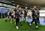 2 February 2018; Ireland players, from left, Rory Best, Luke McGrath Conor Murray, Dan Leavy, Devin Toner and Fergus McFadden walk out for their captain's run at the Stade de France in Paris, France. Photo by Brendan Moran/Sportsfile