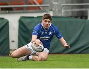 2 February 2018; Hugo Conway of St Mary's College scores his side's first try during the Bank of Ireland Leinster Schools Senior Cup Round 1 match between St Mary's College and St Andrew's College at Donnybrook Stadium in Dublin. Photo by Daire Brennan/Sportsfile