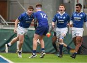 2 February 2018; Hugo Conway of St Mary's College celebrates after scoring his side's first try during the Bank of Ireland Leinster Schools Senior Cup Round 1 match between St Mary's College and St Andrew's College at Donnybrook Stadium in Dublin. Photo by Daire Brennan/Sportsfile