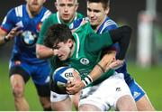 2 February 2018; James McCarthy of Ireland is tackled by Arthur Coville of France during the U20 Six Nations Rugby Championship match between France and Ireland at the Stade Amédée Domenech in Brive, France. Photo by Manuel Blondeau/Sportsfile