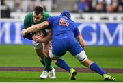 3 February 2018; Cian Healy of Ireland is tackled by Wenceslas Lauret of France during the NatWest Six Nations Rugby Championship match between France and Ireland at the Stade de France in Paris, France. Photo by Ramsey Cardy/Sportsfile