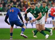 3 February 2018; Cian Healy of Ireland passes to Jonathan Sexton during the NatWest Six Nations Rugby Championship match between France and Ireland at the Stade de France in Paris, France. Photo by Ramsey Cardy/Sportsfile