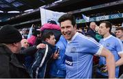 3 February 2018; Seán Cavanagh of Moy Tír na nÓg celebrates with supporters after the AIB GAA Football All-Ireland Intermediate Club Championship Final match between Michael Glaveys and Moy Tír na nÓg at Croke Park in Dublin. Photo by Piaras Ó Mídheach/Sportsfile