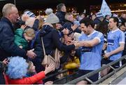 3 February 2018; Seán Cavanagh, front, and Colm Cavanagh of Moy Tír na nÓg celebrate with supporters after the AIB GAA Football All-Ireland Intermediate Club Championship Final match between Michael Glaveys and Moy Tír na nÓg at Croke Park in Dublin. Photo by Piaras Ó Mídheach/Sportsfile