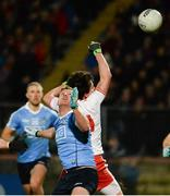 3 February 2018; Ciaran Kilkenny of Dublin in action against Aidan McCrory of Tyrone in the incident which lead to Dublin's first goal during the Allianz Football League Division 1 Round 2 match between Tyrone and Dublin at Healy Park in Omagh, County Tyrone. Photo by Oliver McVeigh/Sportsfile