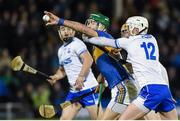 3 February 2018; Noel McGrath of Tipperary in action against Brian O'Halloran of Waterford during the Allianz Hurling League Division 1A Round 2 match between Tipperary and Waterford at Semple Stadium in Thurles, County Tipperary. Photo by Matt Browne/Sportsfile