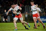 3 February 2018; Matthew Donnelly of Tyrone in action against Brian Howard of Dublin during the Allianz Football League Division 1 Round 2 match between Tyrone and Dublin at Healy Park in Omagh, County Tyrone. Photo by Oliver McVeigh/Sportsfile