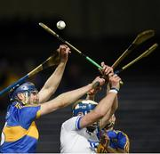 3 February 2018; Tomas Hamill, left, and Sean O'Brien of Tipperary in action against Stephen Bennett of Waterford during the Allianz Hurling League Division 1A Round 2 match between Tipperary and Waterford at Semple Stadium in Thurles, County Tipperary. Photo by Matt Browne/Sportsfile