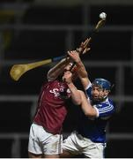3 February 2018; Conor Whelan of Galway in action against Mark Dowling of Laois during the Allianz Hurling League Division 1B Round 2 match between Laois and Galway at O'Moore Park in Portlaoise, County Laois. Photo by Daire Brennan/Sportsfile