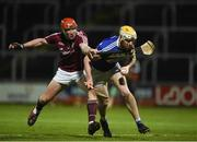 3 February 2018; Leigh Bergin of Laois in action against Conor Whelan of Galway during the Allianz Hurling League Division 1B Round 2 match between Laois and Galway at O'Moore Park in Portlaoise, County Laois. Photo by Daire Brennan/Sportsfile
