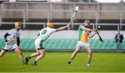 4 February 2018; Pat Camon of Offaly in action against Paul Browne of Limerick during the Allianz Hurling League Division 1B Round 2 match bewteen Offaly and Limerick at Bord Na Móna O'Connor Park, in Tullamore, Offaly. Photo by Daire Brennan/Sportsfile