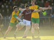 4 February 2018; Damien Comer of Galway in action against Ryan McHugh of Donegal during the Allianz Football League Division 1 Round 2 match between Donegal and Galway at O'Donnell Park, in Letterkenny, Donegal. Photo by Oliver McVeigh/Sportsfile