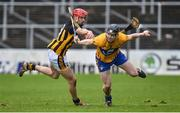 4 February 2018; Tony Kelly of Clare in action against James Maher of Kilkenny during the Allianz Hurling League Division 1A Round 2 match between Kilkenny and Clare at Nowlan Park, in Kilkenny. Photo by Seb Daly/Sportsfile