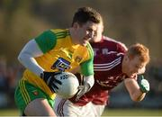 4 February 2018; Patrick McBrearty of Donegal  in action against Declan Kyne of Galway   during the Allianz Football League Division 1 Round 2 match between Donegal and Galway at O'Donnell Park, in Letterkenny, Donegal. Photo by Oliver McVeigh/Sportsfile