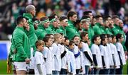 3 February 2018; Cian Healy and his Ireland teammates ahead of the NatWest Six Nations Rugby Championship match between France and Ireland at the Stade de France in Paris, France. Photo by Ramsey Cardy/Sportsfile