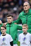 3 February 2018; Luke McGrath, left, and Devin Toner of Ireland ahead of the NatWest Six Nations Rugby Championship match between France and Ireland at the Stade de France in Paris, France. Photo by Ramsey Cardy/Sportsfile