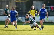 4 February 2018; Peter Kelly of Kildare in action against Dermot Malone, left, Kieran Duffy, centre, and Niall Kearns of Monaghan during the Allianz Football League Division 1 Round 2 match between Kildare and Monaghan at St Conleth's Park, in Newbridge, Kildare. Photo by Barry Cregg/Sportsfile