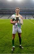 4 February 2018; Aidan Walsh of Kanturk celebrates with the cup after the AIB GAA Hurling All-Ireland Intermediate Club Championship Final match between Kanturk and St. Patrick's Ballyragget at Croke Park in Dublin. Photo by Piaras Ó Mídheach/Sportsfile