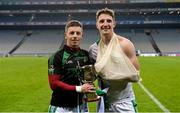 4 February 2018; Anthony Nash, left, Aidan Walsh of Kanturk celebrate with the cup after the AIB GAA Hurling All-Ireland Intermediate Club Championship Final match between Kanturk and St. Patrick's Ballyragget at Croke Park in Dublin. Photo by Piaras Ó Mídheach/Sportsfile