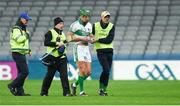 4 February 2018; Aidan Walsh of Kanturk leaves the field after picking up an injury during the AIB GAA Hurling All-Ireland Intermediate Club Championship Final match between Kanturk and St. Patrick's Ballyragget at Croke Park in Dublin. Photo by Piaras Ó Mídheach/Sportsfile